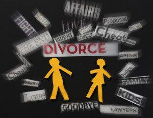 Paper couple divorce notes